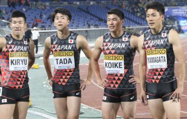 陸上400mリレー日本代表メンバーの画像