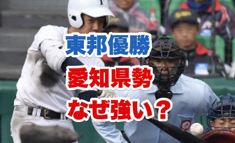 愛知県の高校野球が強い理由は?東邦が選抜優勝最多|中京大中京や愛工大名電も