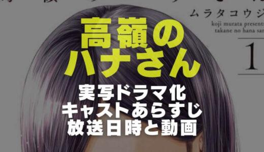高嶺のハナさん実写ドラマのキャストやあらすじと放送日時からテレビ局と動画配信を調査